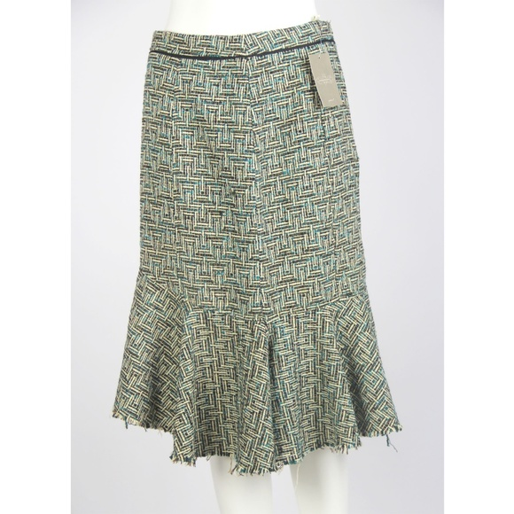 00ee770c94bfd Anthropologie Skirts | Elevenses Bellerby Tweed Flare Skirt | Poshmark